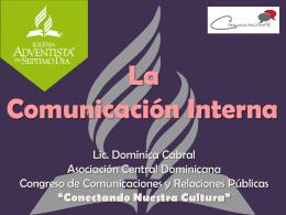 Comunicación Interna - Domínica Cabral