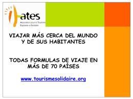 La red ATES (Asociación por un Turismo