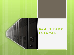 base de datos en la web *enfasis en hosting