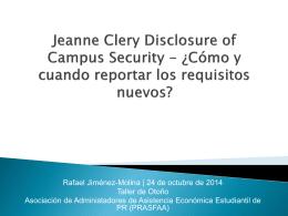 """Lo Básico del """"Clery Act"""""""