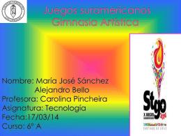 Juegos suramericanos Gimnasia rítmica