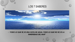 LOS 7 SABERES diapositivas