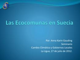 Las Ecocomunas en Suecia - I. Municipalidad de La Ligua