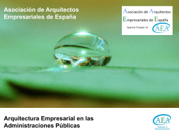 Arquitectura Empresarial en las Administraciones P