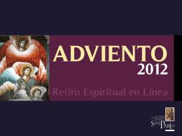 Introducción Retiro Adviento 2012 (PPT)