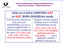 EVACUACIÓN E.U. MAGISTERIO Planta Baja