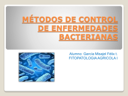 MEDIDAS DE CONTROL DE ENFERMEDADES BACTERIANAS