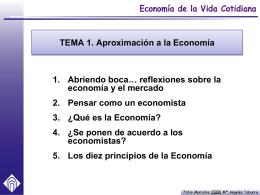 3. ¿Qué es la Economía?
