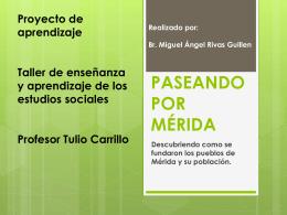 PASEANDO POR MÉRIDA… proyecto digital