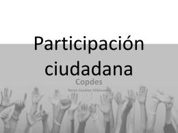 Participación ciudadana - Desarrollo Sustentable y Sostenido en el