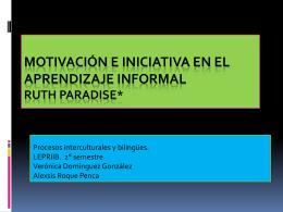 Motivación e iniciativa en el aprendizaje informal