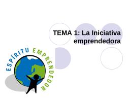 tema1 - Iniciativaemprendedora