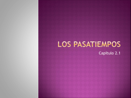 Los pasatiempos - mssalswikipage