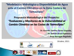 Evaluación y Monitoreo de la Vulnerabilidad al Cambio Climático en