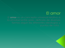 El amor - WordPress.com