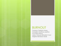 BURNOUT - Desarrollo Organizacional