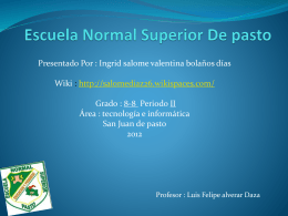 Escuela Normal Superior De pasto - salomediaz26