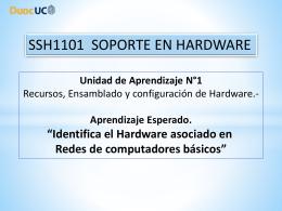 5.- Identifica el Hardware asociado en redes de copmputadores