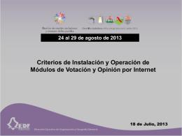 Criterios de Instalación y Operación de Módulos de Votación y