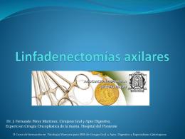 Linfadenectomías axilares
