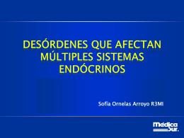 desórdenes que afectan múltiples sistemas endócrinos