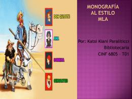 Monografías en el estilo MLA