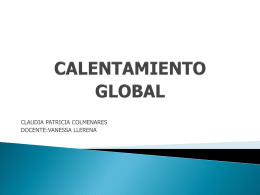 calentamiento global - claudiapatriciacolmenares