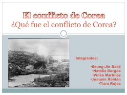 El conflicto de Corea