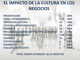 EL IMPACTO DED LA CULTURA EN LOS NEGOCIOS