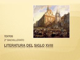SIGLO XVIII TEXTOS
