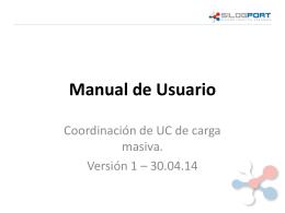 Coordinación de UC de carga masiva