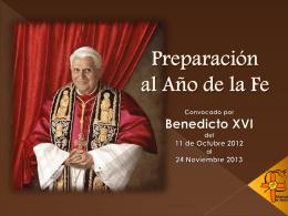 Preparación al Año de la Fe