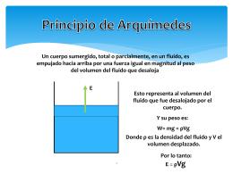 2. Principio de Arquímedes