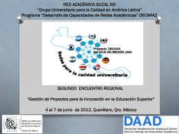 experiencia y aprendizajes - proyectistas de gucal xxi: méxico