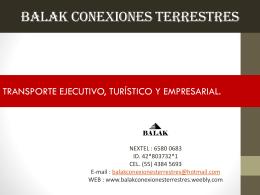Balak Conexiones Terrestres