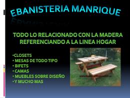 Presentac.EBANISTERIA MANRIQUE