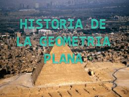 Historia de la geometría plana