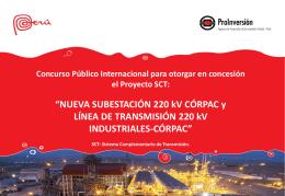 NUEVA SUBESTACIÓN 220 kV CÓRPAC y LÍNEA