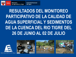 Informe ANA cuenca del Tigre
