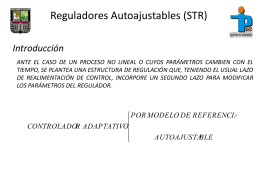 Reguladores Autoajustables (STR)