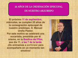 25 años ordenación episcopal