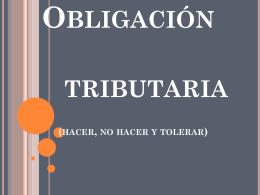UNIDAD V OBLIGACION TRIBUTARIA