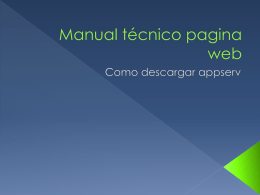 Manual técnico pagina web