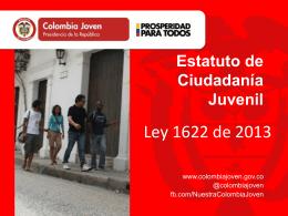 Presentación Ley 1622 - Estatuto de Ciudadanía Juvenil