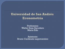 Presentación de PowerPoint - Universidad de San Andrés