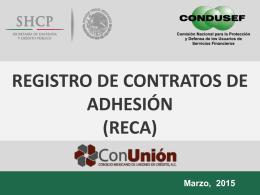 (RECA). - ConUnion