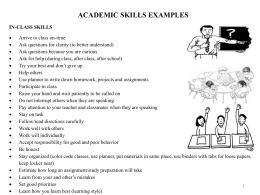 habilidades para usar despues de la escuela