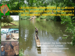 la foresteria comunitaria en la region autonoma del atlantico norte