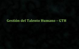 Gestión del talento humano - conceptos