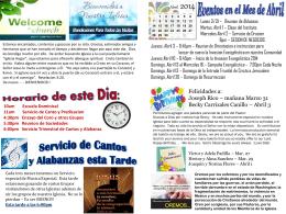 March 30 2014 Bulletin - Iglesia Bautista Puerta La Hermosa